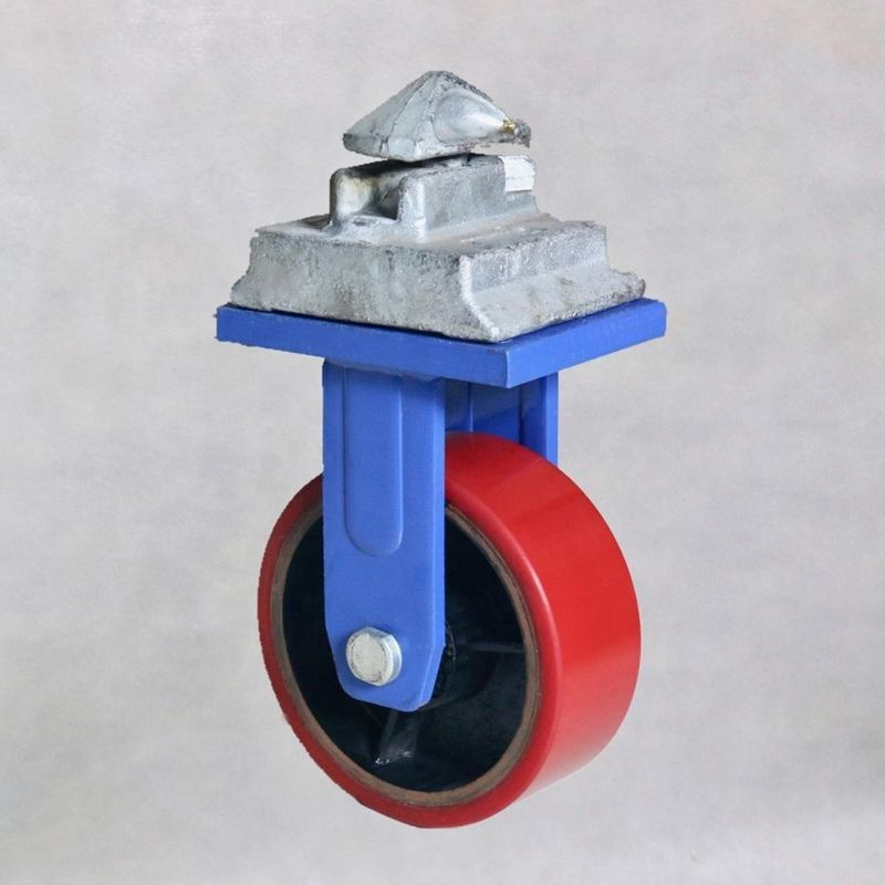 2 Ton Shipping Container Casters / 150 Mm Container Castors Powder Coated Steel
